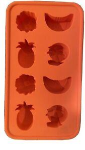 Ikea ice cube tray Mould Orange Silicone Tropical Fruit Shapes Dishwasher Safe