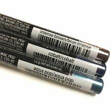 Avon SuperShock Gel EyeLiner Pencils Colbalt Aqua Pop Intense Brown 3pc Lot New
