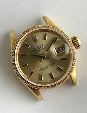 1967 ROLEX DATEJUST PRESIDENT 6527 RARE RED INDEX DIAL 18K SOLID YELLOW GOLD