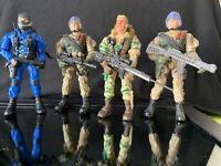 """Lanard Lot Of 4 Military 4"""" Figures Used"""