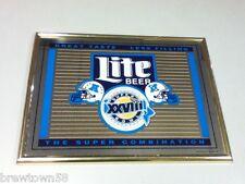 Miller beer sign Lite bar mirror Super Bowl 28 Xxvii 27 Rose Bowl Pasadena Dc6