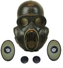 Russian military soviet Black gas mask PBF EO-19 with filters. Sizes 1 2