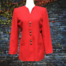 Kasper For A.S.L. Womens Blazer Jacket 8 Career Pockets Button Down Up Red