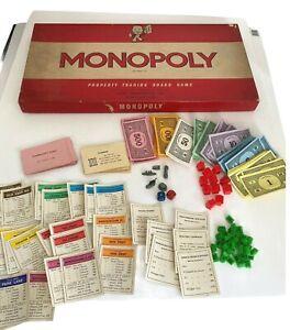 Monopoly Vintage 1970 John Waddington Replacement Spare Parts See DROP DOWN MENU