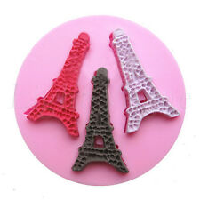 3D Eiffel Tower Silicone Fondant Mold Cake Decorating Chocolate Baking Mould dsf