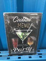 Pub GRASSHOPPER COCKTAIL RECIPE Retro Metal Plaque//Sign Bar Man Cave,