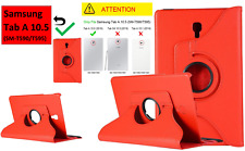 RED- 360 Rotating Case Stand Cover For Samsung Galaxy Tab A 10.5 SM-T590 /T595
