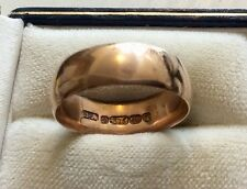Superb Fully Hallmarked Victorian 1891 Solid 9ct Rose Gold Wedding Band Ring