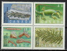 CANADA #1306-1309 40¢ Prehistoric Life in Canada Block MNH