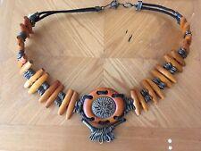 Vintage Unique Brass & Wood Belt Adjustable