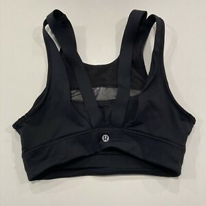 Lululemon Padded Sports Bra Black Size 4 Excellent Condition