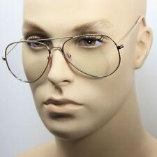 Clear Lens Aviator Eyeglasses Men Women Gold Black Metal  Classic Retro Vintage