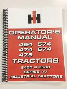 International Harvester 475 Tractor Operators Manual Owners Manual