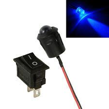 Large 10mm LED Flashing Blue Car Motorcycle Shed Dummy Fake Alarm + Switch 12V