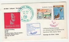 SENEGAL, 1978 Lufthansa First Flight cover to Chile.