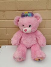 Build A Bear Pink Disney Princess Teddy Plush With Crown