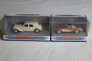 Matchbox Dinky DY22B Citroen 15CV & DY23B Chevrolet Corvette