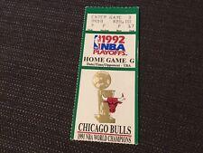 1992 Michael Jordan NBA Playoff TICKET Chicago Bulls Gm G