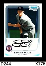 1-2011 BOWMAN CHROME PROSPECTS SAMMY SOLIS NATIONALS QTY AVAILABLE