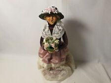 Byers Choice 2004 Victorian Blond Woman with Basket of Flowers