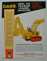 CASE Crawler Loader-Backhoe 310F 1960s dealer sheet brochure - English - Canada