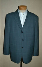 Burberry London 46 Wool Blue/Camel/Navy 3Btn Kensington Model Plaid Sport Coat