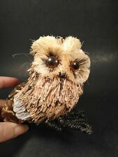 Gallery II Straw Owl Figure NWT