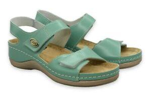 Leder Anatomische Schuhe. Sommer Sandalen. Größe 37,38,39,40,41 . Art. 410 Grün