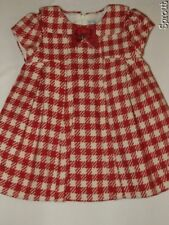 MAYORAL dress plaid houndstooth red 12 months wool blend EUC freshly