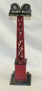 Vintage Marx Floodlight Tower ~ Red with Pedestal Base