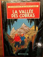 La Vallée des Cobras |Hergé Les Aventures de Jo,Zette et Jocko |Dupuis|1985*TTB!