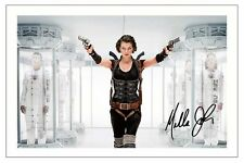 MILLA JOVOVICH - RESIDENT EVIL SIGNED PHOTO PRINT POSTER AUTOGRAPH