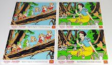 4 McDonalds Snow White And The Seven Dwarfs Disney Kids Place Mat 90s Heigh Ho