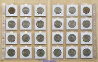 12 verschiedene (!) DDR-Gedenkmünzen 5 + 10 + 20 Mark !