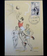 FRANCE PREMIER JOUR FDC YVERT 1072      BASKETBALL     30F     MULHOUSE     1956