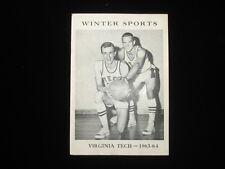 1963-64 Virginia Tech Basketball Media Guide EX