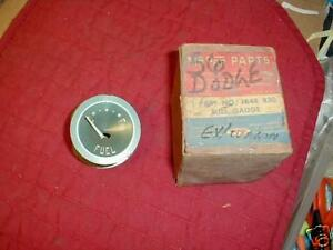 NOS MOPAR 1956 DODGE FUEL GAUGE CORONET ROYAL D500