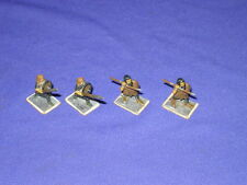 "Vintage Medieval Painted Lead Toy Soldier Lot of 4 Spear & Pike Men 1"" ME21 & V4"