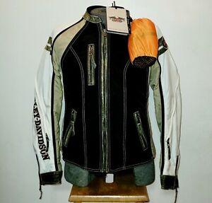 Harley Davidson Women's L Colorblocked Pacer Switchback Riding Jacket 98107-16VW