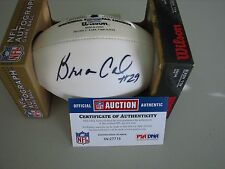 Brian Calhoun Autographed Mini Panel  Football   PSA