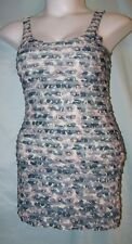 H&M Multicolor Floral Polyester Sleeveless Mini Tiered Shift Dress Sz 4 Juniors