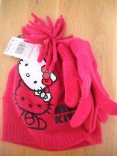 Hello kitty sombrero y guante Set 9-13 Años De Edad Bnwt