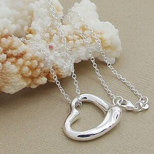925 Sterling Silver Heart Star Cross Pendant Necklace Women Fashion Jewellery