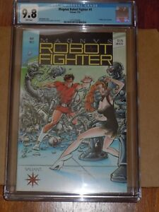 Magnus Robot Fighter #1 CGC 9.8 White pages -w/cards - Graded Valiant Comic 1991