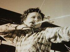 Rare Original VTG Period Ready Aim Fire Woman Archery Scene Photo Still