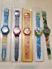 Lot of 5 Vintage Disney Watch New Sealed Aristocats Aladdin Toy Story Lion King