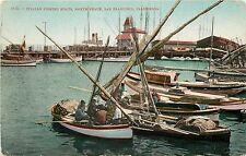 c1907 Postcard; Italian Fishing Boats, North Beach, San Francisco CA Unposted