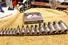 """New Blue point 15PC 2.5m To 19m (1/4 3/8"""" 1/2"""" Dr) Allen Socket Set & Snap-on"""