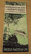 """VTG 1932 SWEDISH AMERICAN LINE Brochure~""""WONDER CRUISE""""~Norway/Russia/Vikings~"""