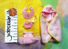 Kelly Krissy Doll Clothes *Krissy Layette Rosebud Hoodie Blanket w/Accs* 5pcs